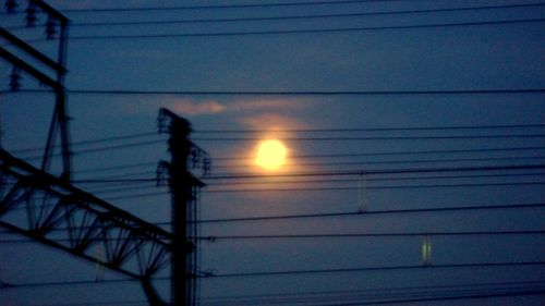 a full moon in the morning