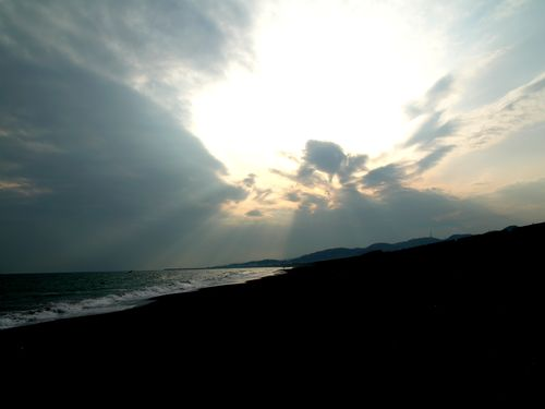 Shonan beach , The Pacific Ocean