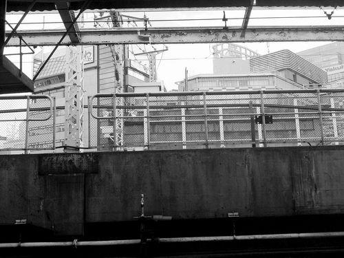 at platfom of shinbashi stationb